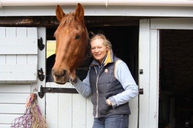 A Happy Copper Bobby with Nicky - Equine Therapy Center