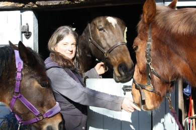 Semira on a Bright Sunny Morning with Cloudy May, Copper Bobby and Ellie - Equine Therapy Center